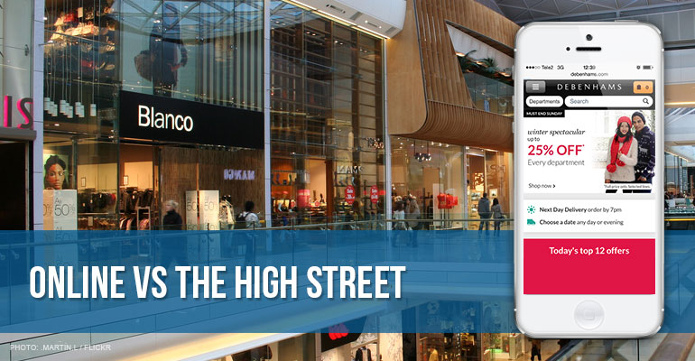 huge discount d7faf 32331 Shopping Online vs. Shopping on the High Street
